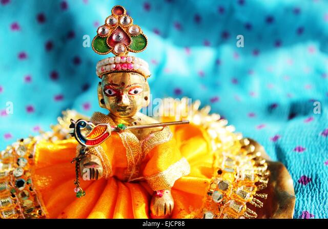 Hindu God Lord Krishna - Stock Image