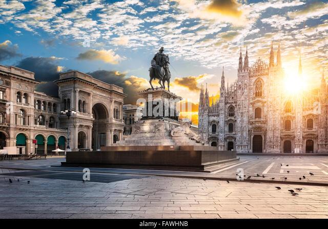 Duomo at sunrise, Milan, Italy Europe. - Stock Image