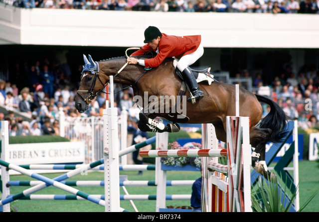 Dublin - Rds, Horse Show, - Stock Image