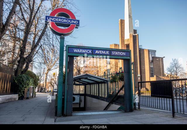 Warwick Avenue Underground Station, London - Stock Image