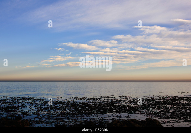 View from Sea Point Promenade, Cape Town - Stock Image