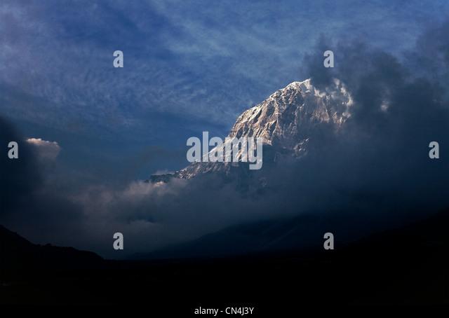 Mount Pandim (6691m), Kanchenjunga Region Himalayas,Sikkim, India - Stock-Bilder
