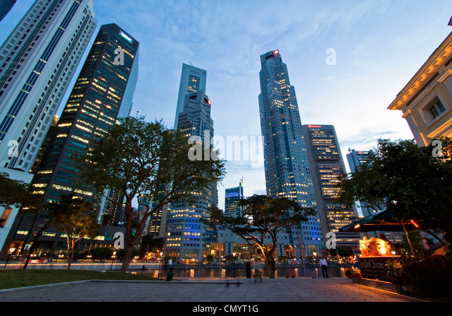 Asia singapur skyline panorama - Stock-Bilder