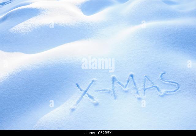 X-Mas in Snow - Stock Image