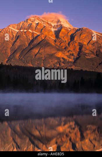 Pyramid Lake, Jasper NP, Alberta, Canada - Stock Image