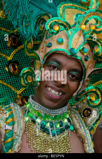 Young man, Amasonia group, Carnival of Cultures 2009, Berlin, Germany, Europe - Stock-Bilder