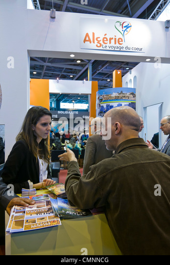 Algeria booth International Tourism Show 2012 Paris - Stock Image