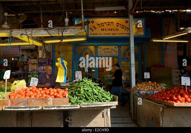 Israel, Tel Aviv, HaCarmel (Carmel) Market - Stock Image