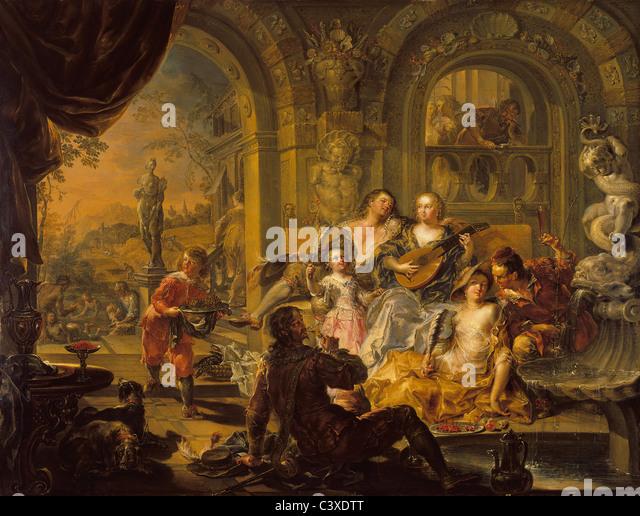 368-1901, Summer, by Johann Georg Platzer. Austria, mid-18th century - Stock-Bilder