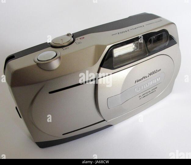 Early pocket digital camera - Fuji Finepix 2400Z. Consumer digital camera. - Stock Image