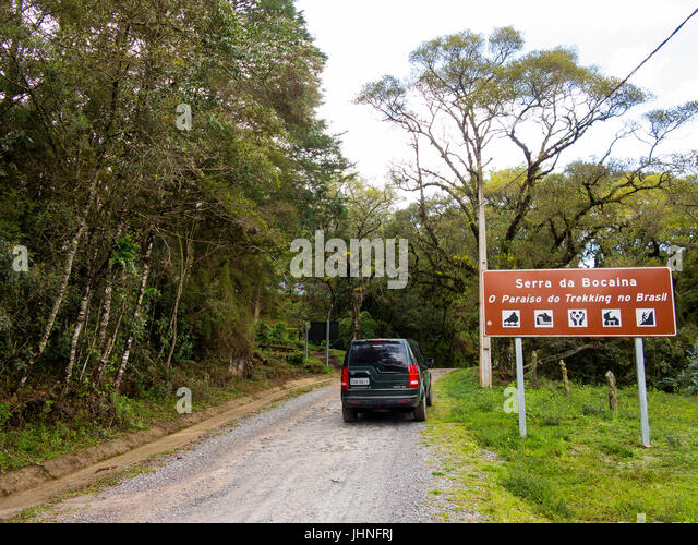 Dirty road at Serra da Bocaina, São Paulo - Stock Image