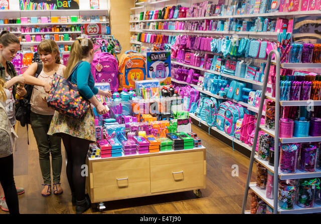 Melbourne Australia Victoria Central Business District CBD Central sale shopping sale display Smiggle stationery - Stock Image
