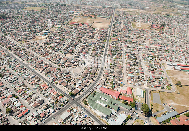 Aerial view of cape town - Stock Image