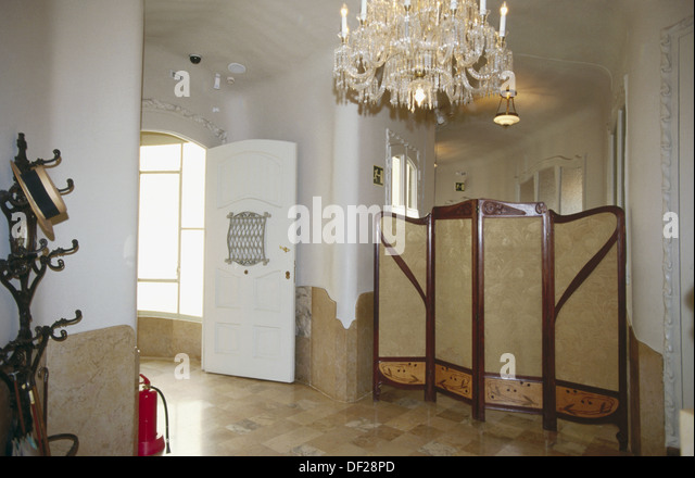 The Apartment, recreation of an original bourgeois apartment in the beginning of 20th century at Milà House - Stock Image