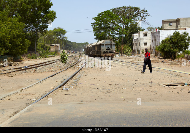 Thies rail, Senegal, Africa - Stock Image