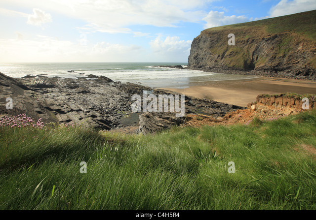 Crackington Haven, North Cornwall, England, UK - Stock Image