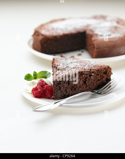Light Chocolate Torte - Stock Image
