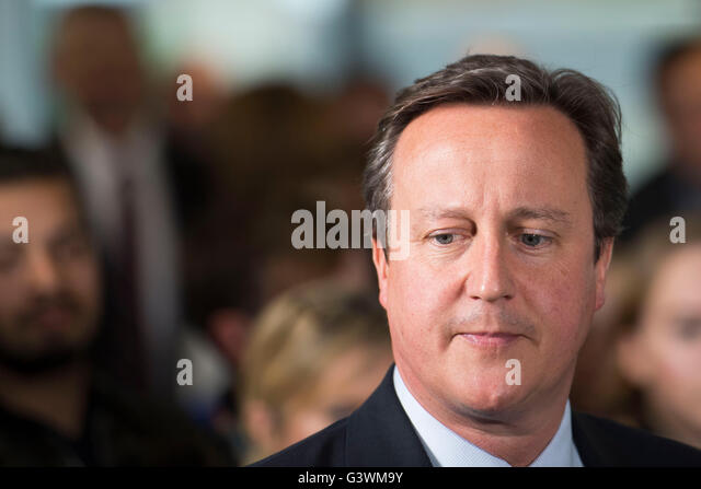 Former UK Prime Minister David Cameron - Stock Image