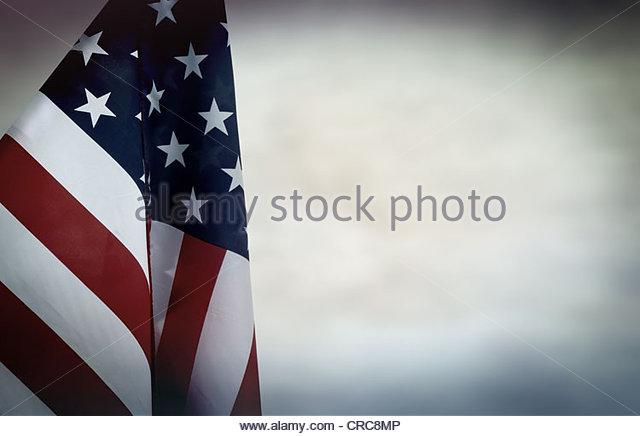 US flag backdrop - Stock Image