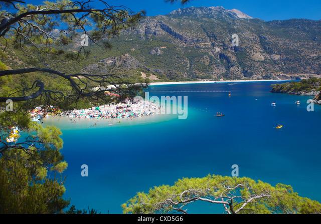Oludeniz beach, Fethiye, Anatolia, Turkey, Asia Minor, Eurasia - Stock Image
