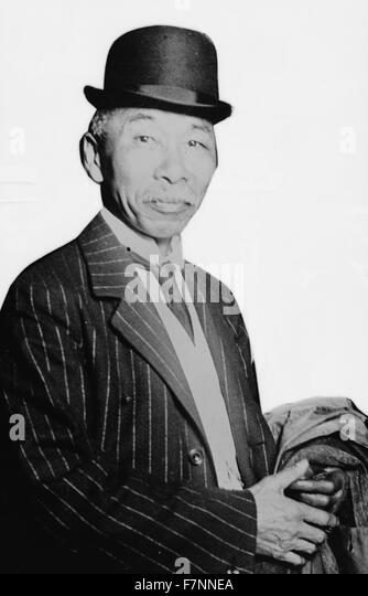 Baron Hayashi. Photograph shows Baron Gonzuke Hayashi, the Japanese ambassador to China. - Stock Image