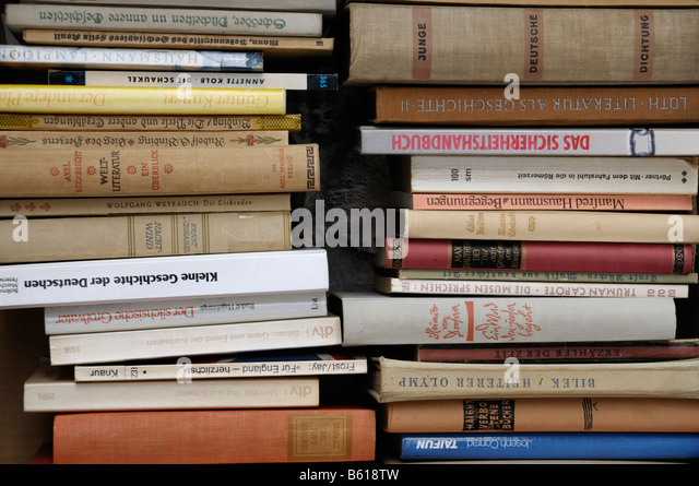 Piles of old or antique books - Stock Image