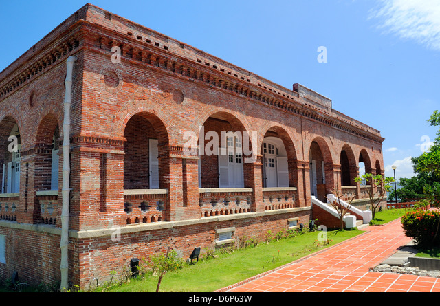 Restored British Consulate, built in 1865, Kaohsiung, Taiwan, Asia - Stock Image