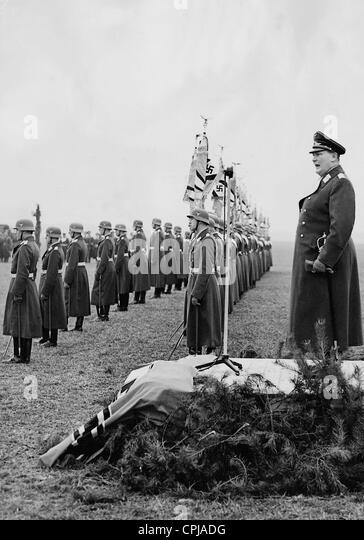 Hermann Goring awards flags, 1937 - Stock-Bilder