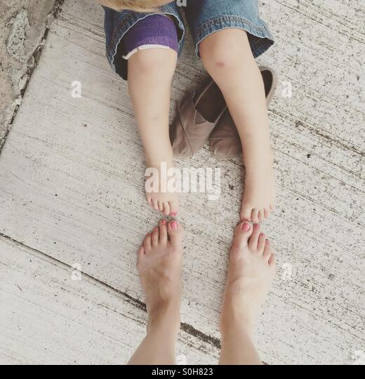 Painted toes - Stock Image