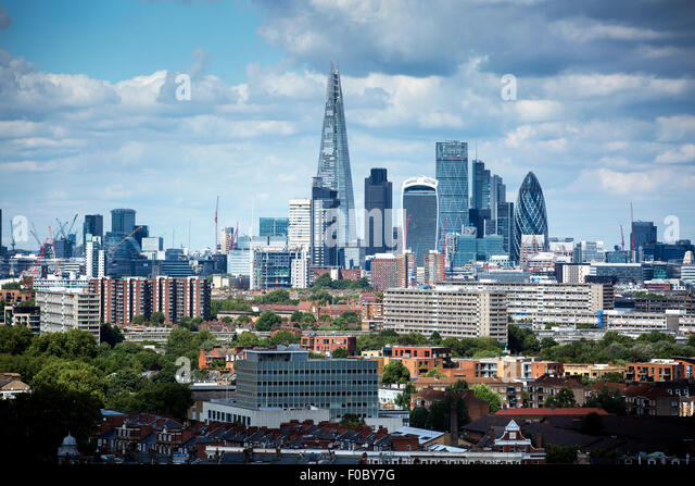 London Skyline including The Shard - Stock Image