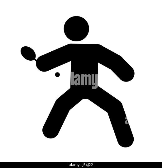 sport sports ball paddle bat tennis man table sport sports ball summer summerly - Stock Image