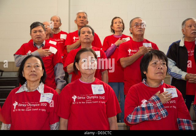 Senior Olympics for Vietnamese-Americans and other Senior Citizens - Stock Image