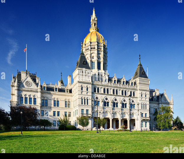 Connecticut State Capitol in Hartford, Connecticut. - Stock Image