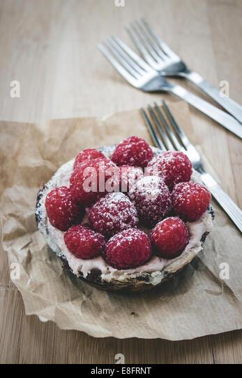 Raspberry tart - Stock-Bilder