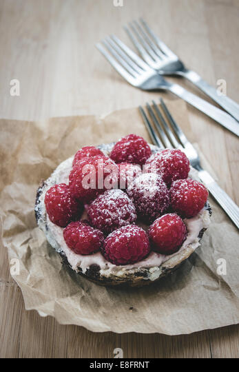 Raspberry tart - Stock Image