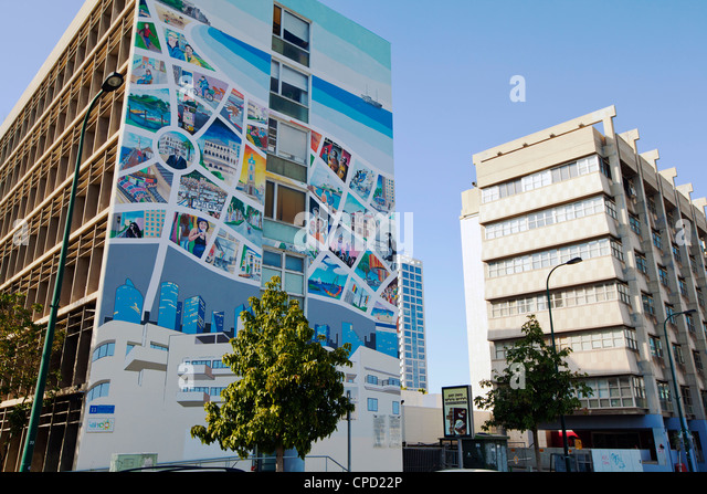 Apartment buildings in the centre of town, Tel Aviv, Israel, Middle East - Stock-Bilder