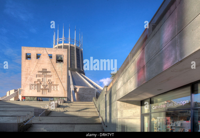 Liverpool Catholic Metropolitan Cathedral of Christ The King , England UK - Stock Image