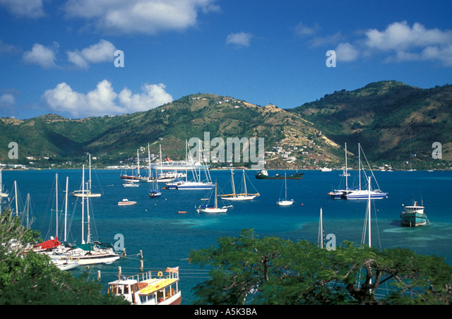 British Virgin Islands Tortola Roadtown - Stock Image