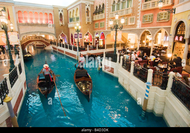 Interior of The Venetian Macao Hotel and Casino Macau - Stock Image
