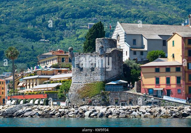 santa margherita ligure on the gulf of tigullio, italy. - Stock Image