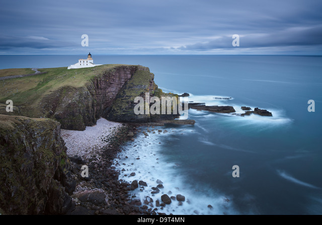 Stoer Head Lighthouse, Sutherland, Scotland, UK - Stock Image