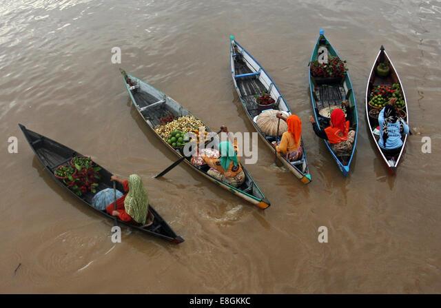 Indonesia, South Kalimantan, Floating market Lok Baintan - Stock Image