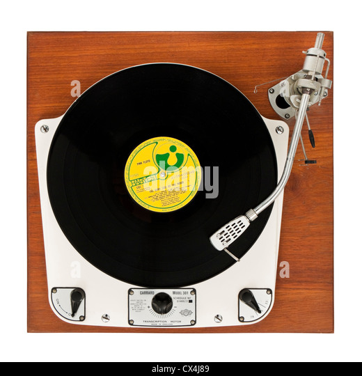 Vintage 1950's Garrard 301 turntable with transcription motor and SME 3009 tonearm. - Stock Image