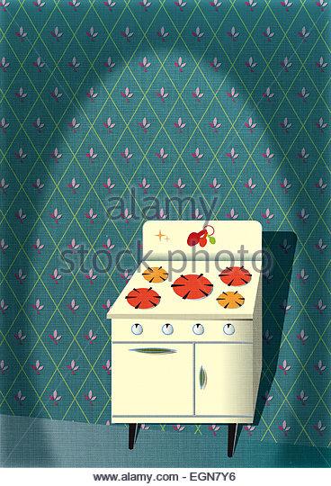 Retro kitsch in the kitchen! - Stock Image