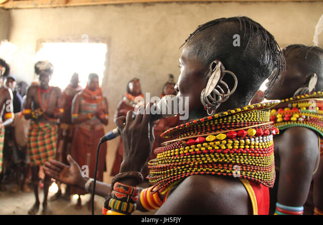 Loiyangaleni, Kenya. 19th May 2012. KateBul collaborates with Turkana & Samburu musicians during the 2012 Lake - Stock Image