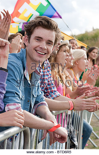 Young people at festival - Stock Image
