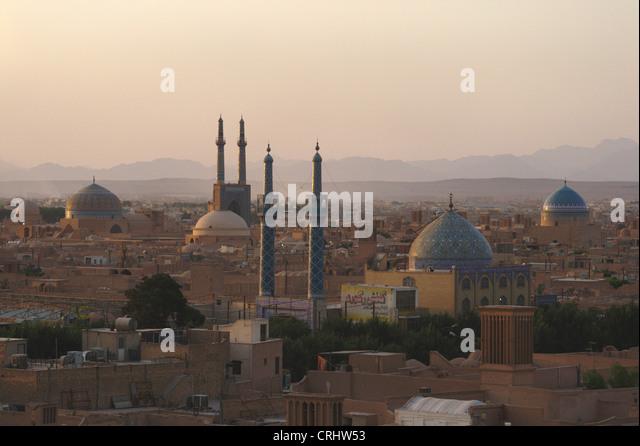 cityview of Yazd, Iran, Yazd - Stock Image