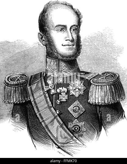 William II, king of the Netherlands, 19th century - Stock-Bilder