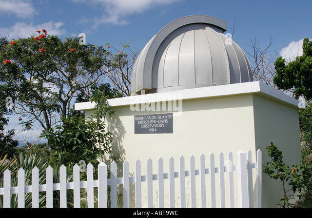 BVI Tortola Road Town Skyworld Briercliffe Davis Observatory telescope - Stock Image