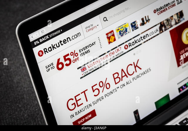 Rakuten.com Rakuten website - Stock Image